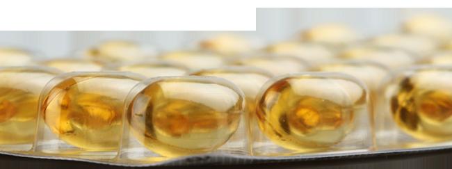 Cápsulas de gelatina en blisters para su conservación